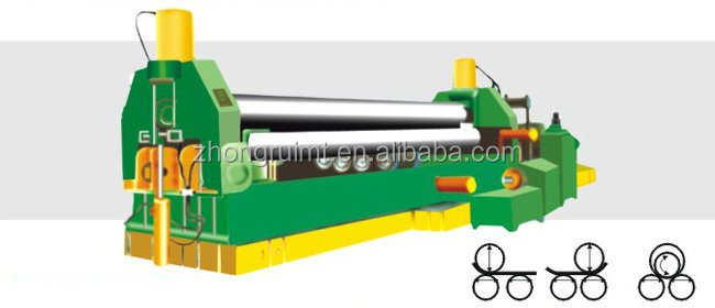 3 roller/ 4 roller sheet metal fabrication rolling machine rich in bending shape