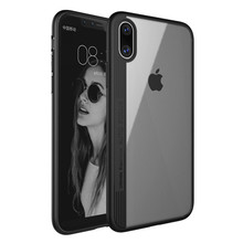 Ultra slim Transparent TPU PC Drop Protect Acrylic Mobile Phone Back Cover Case For iPhone X