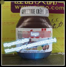 Customized!!!High Quality Bottle Replica Inflatable/Chocolate Sauce Pot/Jar Model/For Advertising W10259