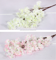 100 Wholesale Long stem single artificial fake cherry blossom branches for sale
