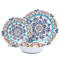 Cynthia Rowley Spanish Tile MELAMINE Dinner Plates Outdoor Safe New dinnerware set