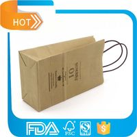 Grocery Industrial Use brown kraft paper bag