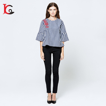 new coming european style lady embroidered tops women blouse design patterns back neck