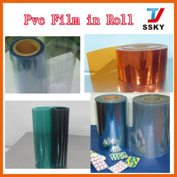 100% recyclable plastic flexible roll/thin food packaging protective film pvc sheet/pvc roll
