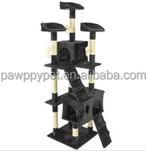 Factory sale Cat Tree Tower Condo Climing Scratcher Furniture Kitten House Scratching Sisal Post pet products Black