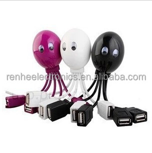 Funny cute octopus USB 2.0 Charger Hub for promotions