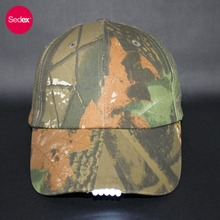 SEDEX 4-Pillar Cap Factory 6 Panels Camo Baseball Cap With built-in led light