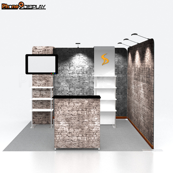 New design custom trade show portable aluminum exhibition booth