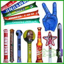 hot selling custom thundersticks PE Inflatable clap stick balloon for adversting