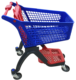 European style Wholesale Plastic Grocery Supermarket Shopping Cart Shopping Trolley