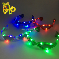 Funky Party Celebration LED Flashing Sunglasses in Sporty Design