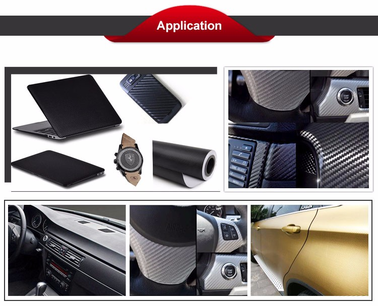 1.52*28M Car dashboard 3D Carbon Fiber Texture Vinyl Sticker Sheet Decals
