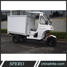 Chongqing 200cc fresh food storage small truck milk ice cream refrigerator tricycle 3 wheel motorcycle