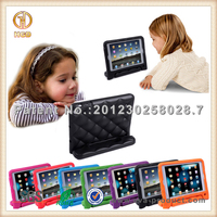 Grid design Child proof EVA soft case cover for ipad mini with handle