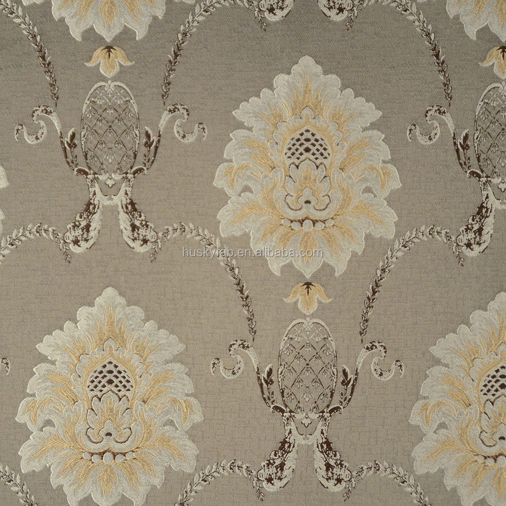 Luxury Floral Jacquard Blackout Fabric for Hotel Curtain