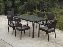 Outdoor Imitation Rattan Ikea Wicker Dining Chairs and Table SV-2081B