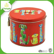 Kids Lock tin can coin bank with key for sale