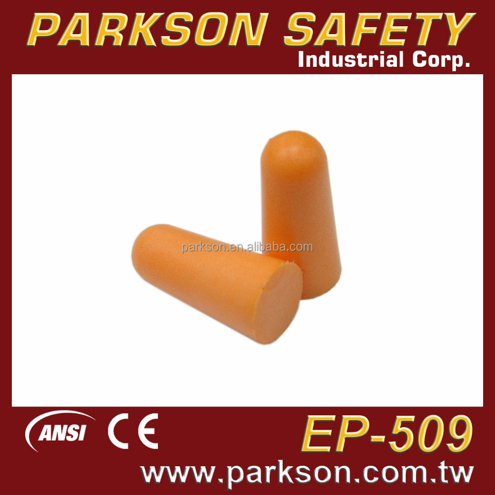 PARKSON SAFETY Taiwan Great Quality Economic Safety Foam Ear Protector Sleeping Earplug CE EN352 EP-509