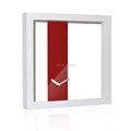 30cm SIZE Office and home Print paper dial Y.T. Step Movement Square wall art clock