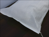 white plastic pp woven rice packaging bag/sack polypropylene