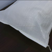 White Plastic Pp Woven Rice Packaging