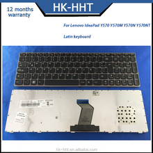 Spanish Latin laptop keyboard for Lenovo IdeaPad Y570 shenzhen keyboard