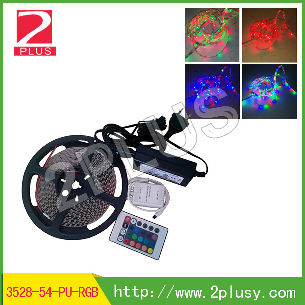 LED Strip Light With 54pcs LED Per Meter, And Remote Control With 24 Keys