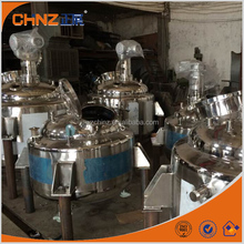 Newest stainless steel steam jacket mixing tank for paint