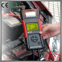 12V-24v digital car battery tester with printer
