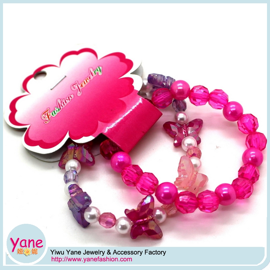 Clear beaded high qaulity cute kid necklace bracelet set