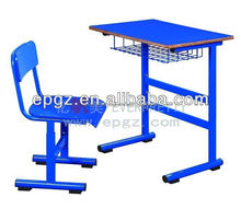 Heavy Duty frame university classroom furniture with wooden top
