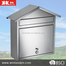 Stainless Steel Wall Mounted Mailbox letter box Mail box