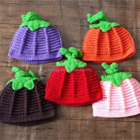 Crochet Knit Baby Halloween Pumpkin Hat