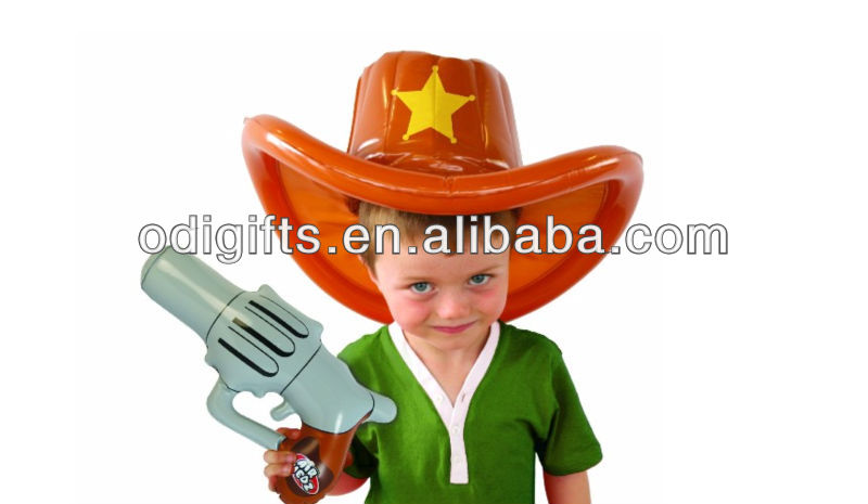 coolest dress up inflatable Air Hedz Inflatable Cowboy Hat And Gun