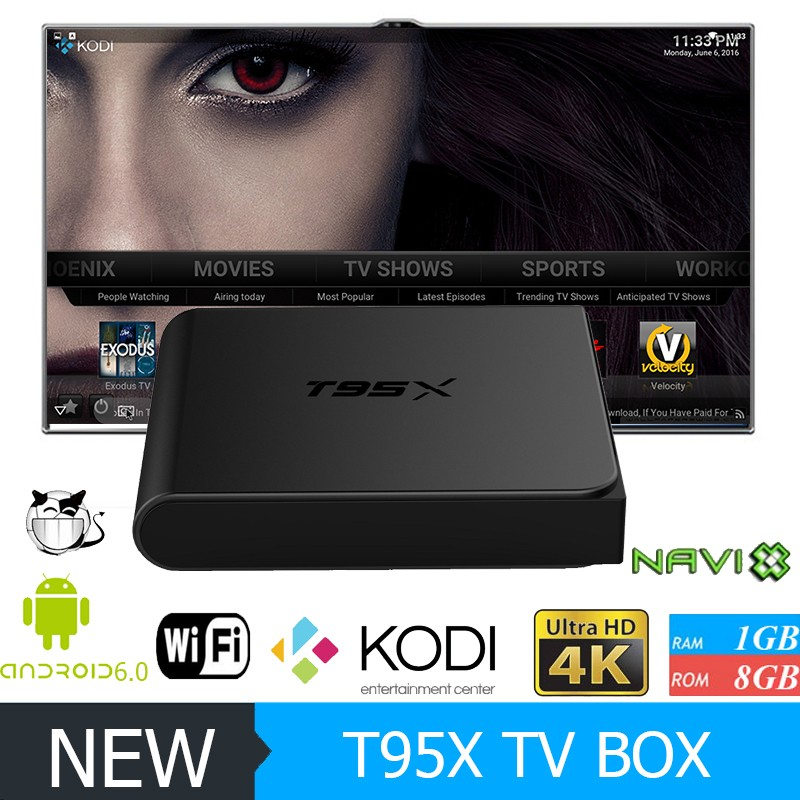 2017 Hot 2GB RAM Ott Android 6.0 Firmware Update Android Smart Tv Box T95X