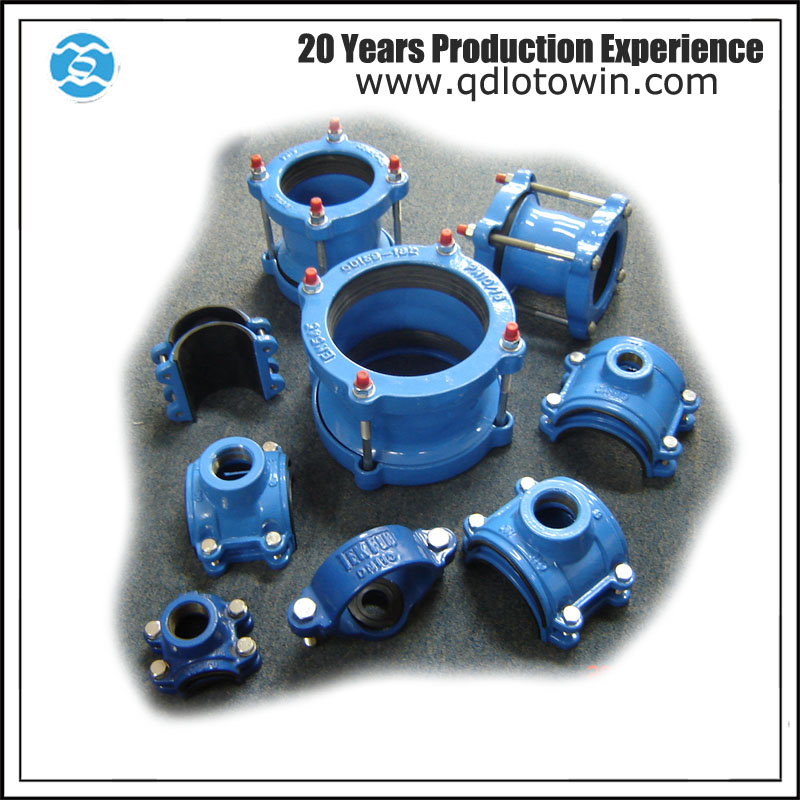 ISO9001 Saddle Clamp Univeral Coupling Saddle for PVC Pipe restrained coupling