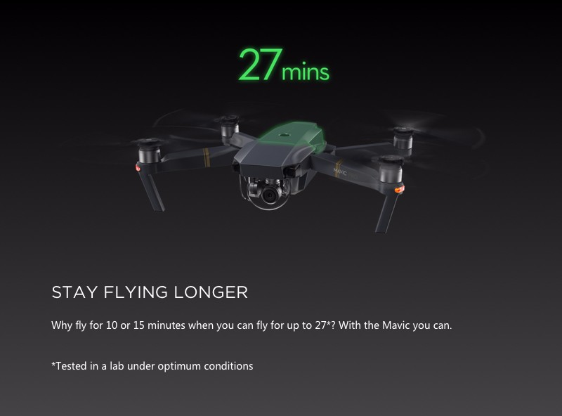 DJI Mavic Pro combo ready to fly for photography pocket drone