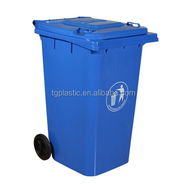 240L plastic decorative trash cans