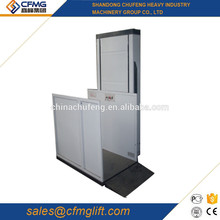 2017 New used hydraulic outdoor home aluminum hop stair up platform elevators for disabled for sale