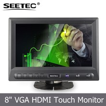 "8 "" led panel widescreen lcd tft monitor for car application vga hdmi input"