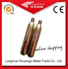 strong-selling 24gram co2 cylinders 1/2 Thread best quality 16g20g33g38g42g22g60g65g74g88g94g