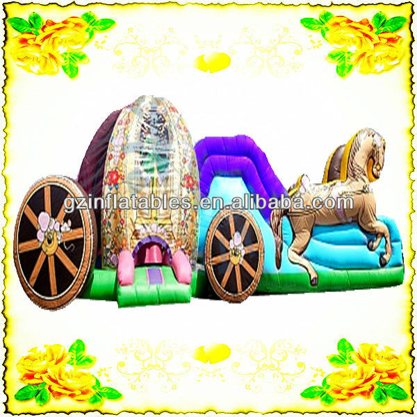 princess carriage inflatable bouncer slide combo