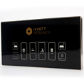 Hotel bedside touch control panel for hotel guest control system Bed or table side