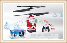 hot sale Christmas toy santa claus remote control helicopters for sale