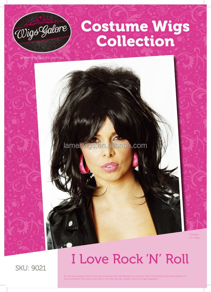 Newlook Q9021 long black wavy wig factory cheap synthetic women hair weft
