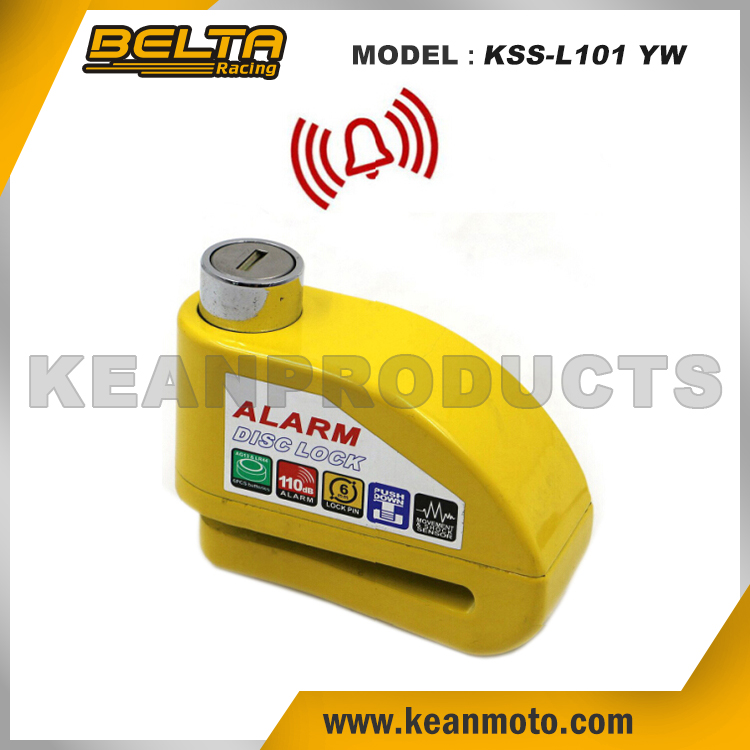 Security Protect Anti-theft Universal Zinc Alloy Motorcycle Yellow Alarm Brake Disc Lock KSS-L101 YW