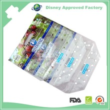 Nice printed ziplock durable plastic grape strawberry shopping bag