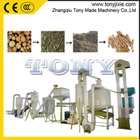 Auto-Lubricate High productivity complete Biomass sawdust pellet milling production line wood pellet making line