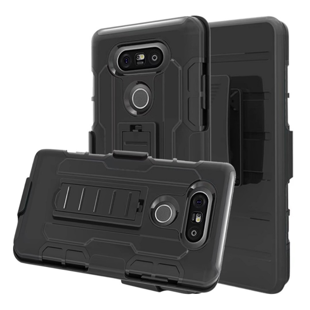 Rugged Armor Case Holster Cover For LG LV5/K10 2017