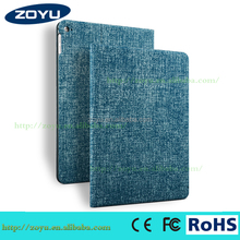Wholesale PU Leather Case for iPad air 2 Woven design pu for ipad accessoires Thin and light for iPad case